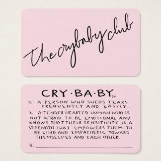 The Crybaby Club Membership Cards