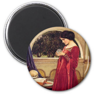 """""""The Crystal Ball"""" by John William Waterhouse Magnet"""