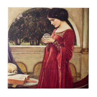 """The Crystal Ball"" Pre-Raphaelite Ceramic Tile"