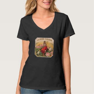 The Cuban Rose Vintage Design Cuba T-Shirt
