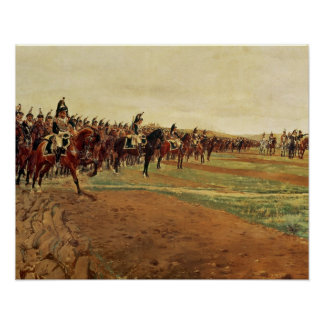 The Cuirassiers before their Charge at the Battle Poster