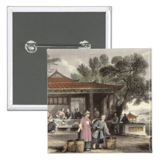 The Culture and Preparation of Tea, from 'China in 15 Cm Square Badge