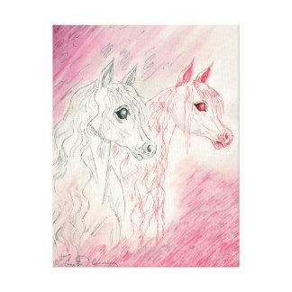 The Curious Arabian Horses Canvas Print