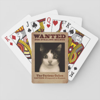 The Curious Calico Kitten Playing Cards