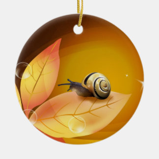 The curious Snail Ceramic Ornament