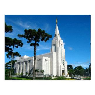 The Curitiba Brazil LDS Temple Postcard