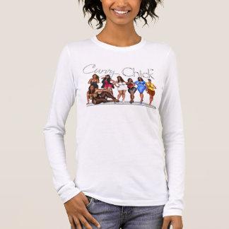 The Curvy Chick Attitude Long Sleeve T-Shirt