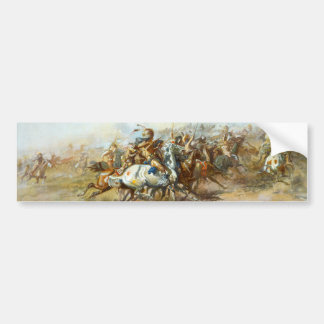 The Custer Fight by Charles Marion Russell Bumper Sticker