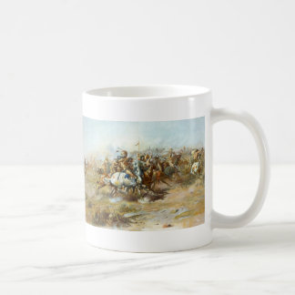 The Custer Fight by Charles Marion Russell Mugs