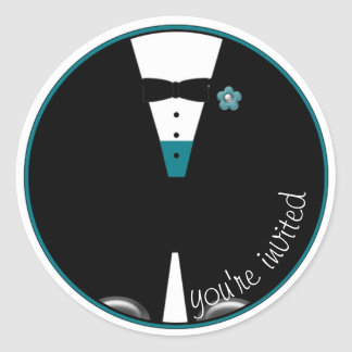 The Custom Color Tux ~ MAKE IT ANY COLOR! ~ Round Sticker