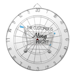 The Customer Is Always Right Dartboard