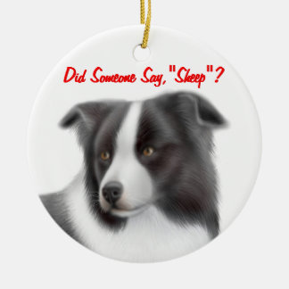 The Customisable Border Collie Herding Ornament