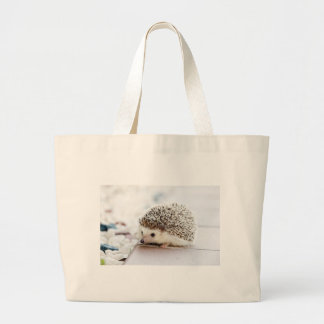 The Cute Baby Hedgehog Large Tote Bag