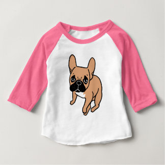 The Cute Black Mask Fawn Frenchie Needs Attention Baby T-Shirt