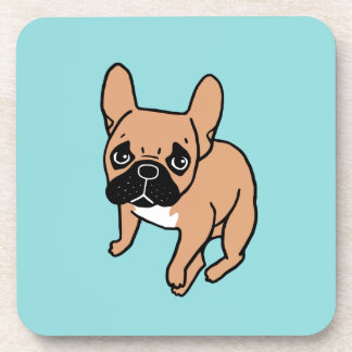 The Cute Black Mask Fawn Frenchie Needs Attention Coaster