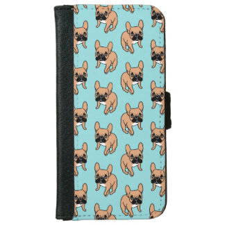 The Cute Black Mask Fawn Frenchie Needs Attention iPhone 6 Wallet Case