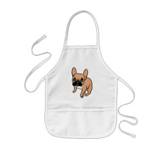 The Cute Black Mask Fawn Frenchie Needs Attention Kids Apron