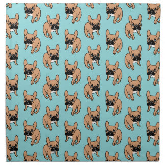 The Cute Black Mask Fawn Frenchie Needs Attention Napkin