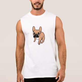 The Cute Black Mask Fawn Frenchie Needs Attention Sleeveless Shirt