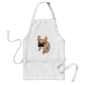 The Cute Black Mask Fawn Frenchie Needs Attention Standard Apron