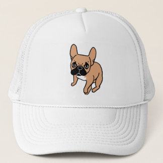 The Cute Black Mask Fawn Frenchie Needs Attention Trucker Hat