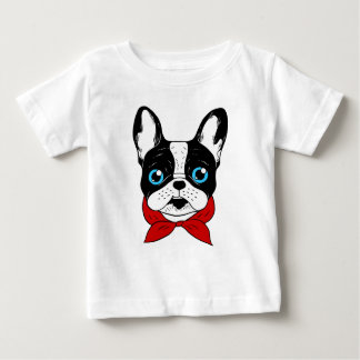The cute Frenchie scout is ready for his adventure Baby T-Shirt