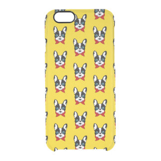 The cute Frenchie scout is ready for his adventure Clear iPhone 6/6S Case