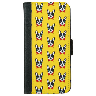 The cute Frenchie scout is ready for his adventure iPhone 6 Wallet Case