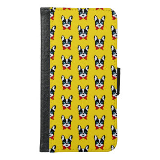 The cute Frenchie scout is ready for his adventure Samsung Galaxy S6 Wallet Case