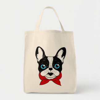 The cute Frenchie scout is ready for his adventure Tote Bag