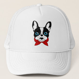 The cute Frenchie scout is ready for his adventure Trucker Hat