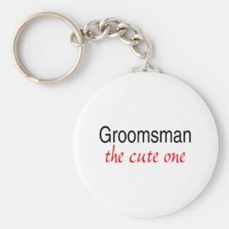 The Cute One (Groomsman) Key Chain