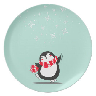 The Cute Penguin Plate