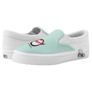 The Cute Penguin Slip On Shoes