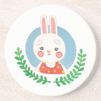 The Cute Rabbit Beverage Coasters
