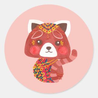 The Cute Red Panda Classic Round Sticker