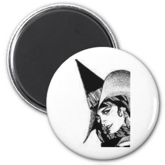 The Cute Witch 6 Cm Round Magnet