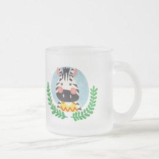 The Cute Zebra Frosted Glass Coffee Mug