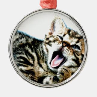 The cutest kitten ever!!! metal ornament