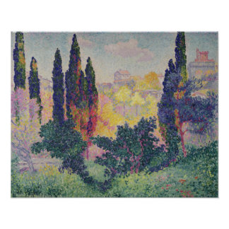 The Cypresses at Cagnes, 1908 Poster