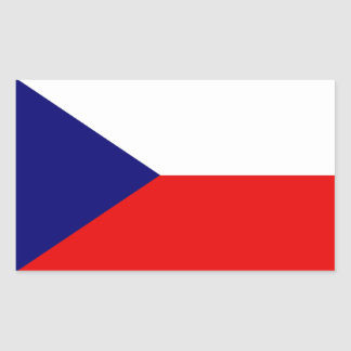 The Czech Republic Flag Rectangular Sticker