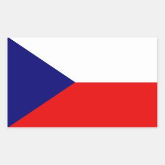 The Czech Republic Flag Rectangular Sticker