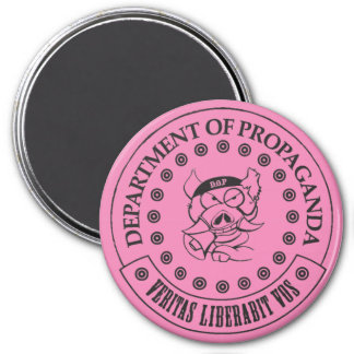 """The D.O.P. - S.A. Hogg 3"""" Round Magnet (Pink)"""