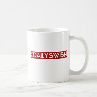 The Daily Swish (Small Logo) Coffee Cup Classic White Coffee Mug