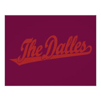 The Dalles script logo in white distressed 21.5 Cm X 28 Cm Flyer