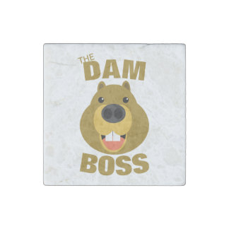 The Dam Boss Stone Magnet