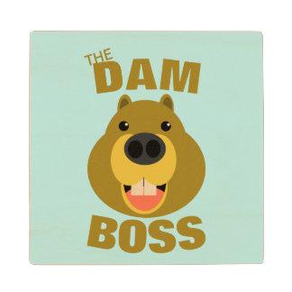 The Dam Boss Wood Coaster