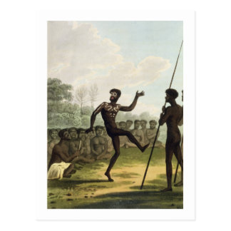 The Dance, aborigines from New South Wales engrave Postcard