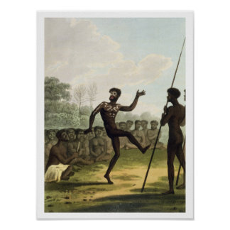 The Dance, aborigines from New South Wales engrave Poster