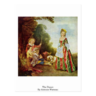 The Dance, By Antoine Watteau Postcard